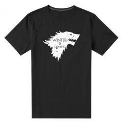 Мужская стрейчевая футболка Winter is coming soon