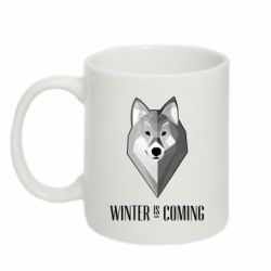 Кружка 320ml Winter is coming Wolf