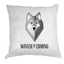 Купить Подушка Winter is coming Wolf, FatLine