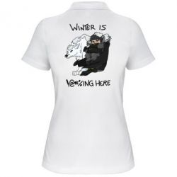 Женская футболка поло Winter is !@#%ing here