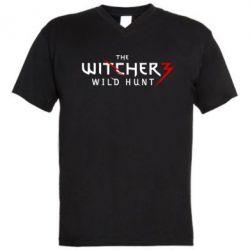 Мужская футболка  с V-образным вырезом Witcher 3 Wild Hunt - FatLine