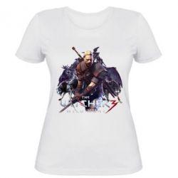 Купить Женская футболка Witcher and the Wolves, FatLine