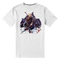 Купить Мужская стрейчевая футболка Witcher and the Wolves, FatLine