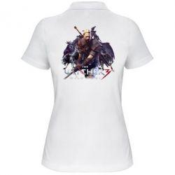 Купить Женская футболка поло Witcher and the Wolves, FatLine