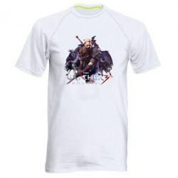 Купить Мужская спортивная футболка Witcher and the Wolves, FatLine