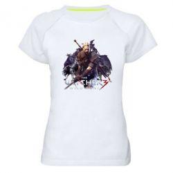 Купить Женская спортивная футболка Witcher and the Wolves, FatLine