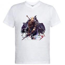 Купить Мужская футболка с V-образным вырезом Witcher and the Wolves, FatLine