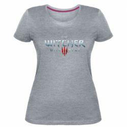 Женская стрейчевая футболка Witcher Logo