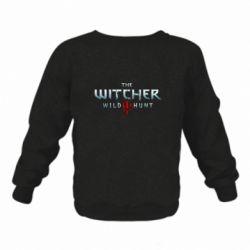 Детский реглан (свитшот) на флисе Witcher Logo