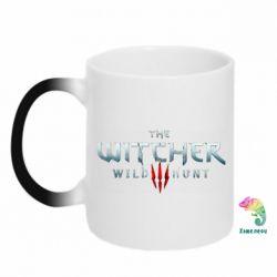 Кружка-хамелеон Witcher Logo