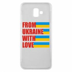 Чехол для Samsung J6 Plus 2018 With love from Ukraine - FatLine