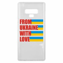 Чехол для Samsung Note 9 With love from Ukraine - FatLine