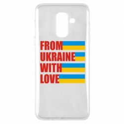 Чехол для Samsung A6+ 2018 With love from Ukraine - FatLine