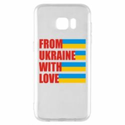 Чехол для Samsung S7 EDGE With love from Ukraine - FatLine