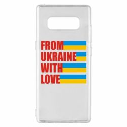 Чехол для Samsung Note 8 With love from Ukraine - FatLine