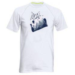 Мужская спортивная футболка Wolf and forest