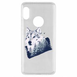 Чехол для Xiaomi Redmi Note 5 Wolf and forest