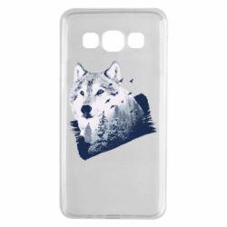 Чехол для Samsung A3 2015 Wolf and forest
