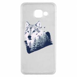 Чехол для Samsung A3 2016 Wolf and forest