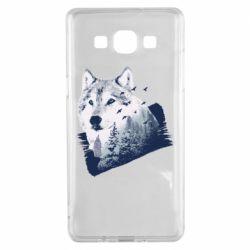 Чехол для Samsung A5 2015 Wolf and forest