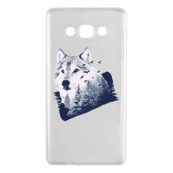 Чехол для Samsung A7 2015 Wolf and forest