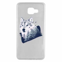 Чехол для Samsung A7 2016 Wolf and forest