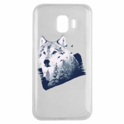 Чехол для Samsung J2 2018 Wolf and forest