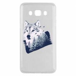 Чехол для Samsung J5 2016 Wolf and forest