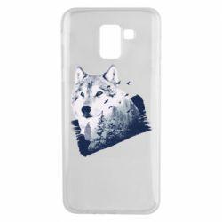 Чехол для Samsung J6 Wolf and forest