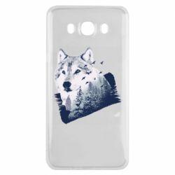 Чехол для Samsung J7 2016 Wolf and forest