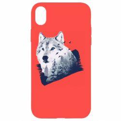 Чехол для iPhone XR Wolf and forest
