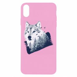 Чехол для iPhone Xs Max Wolf and forest