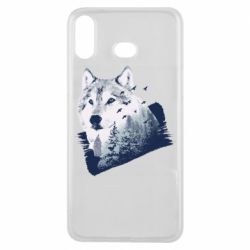 Чехол для Samsung A6s Wolf and forest