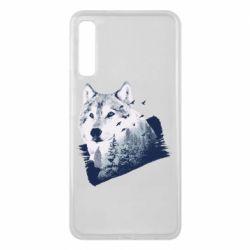 Чехол для Samsung A7 2018 Wolf and forest
