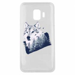 Чехол для Samsung J2 Core Wolf and forest