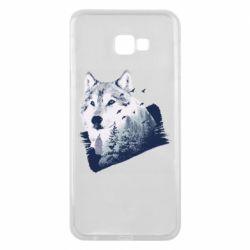 Чехол для Samsung J4 Plus 2018 Wolf and forest