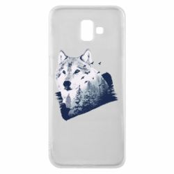 Чехол для Samsung J6 Plus 2018 Wolf and forest