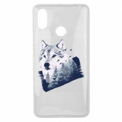 Чехол для Xiaomi Mi Max 3 Wolf and forest