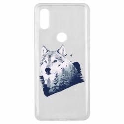 Чехол для Xiaomi Mi Mix 3 Wolf and forest