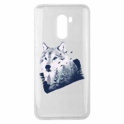 Чехол для Xiaomi Pocophone F1 Wolf and forest