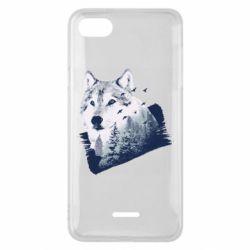 Чехол для Xiaomi Redmi 6A Wolf and forest