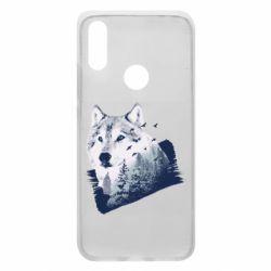 Чехол для Xiaomi Redmi 7 Wolf and forest