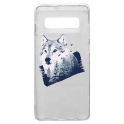 Чехол для Samsung S10+ Wolf and forest