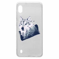 Чехол для Samsung A10 Wolf and forest