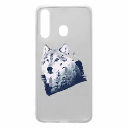 Чехол для Samsung A60 Wolf and forest
