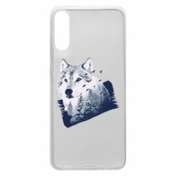 Чехол для Samsung A70 Wolf and forest