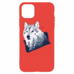 Чехол для iPhone 11 Wolf and forest