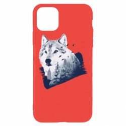 Чехол для iPhone 11 Pro Wolf and forest