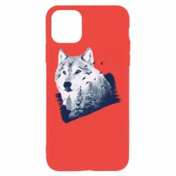 Чехол для iPhone 11 Pro Max Wolf and forest