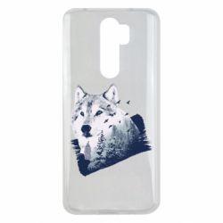 Чехол для Xiaomi Redmi Note 8 Pro Wolf and forest